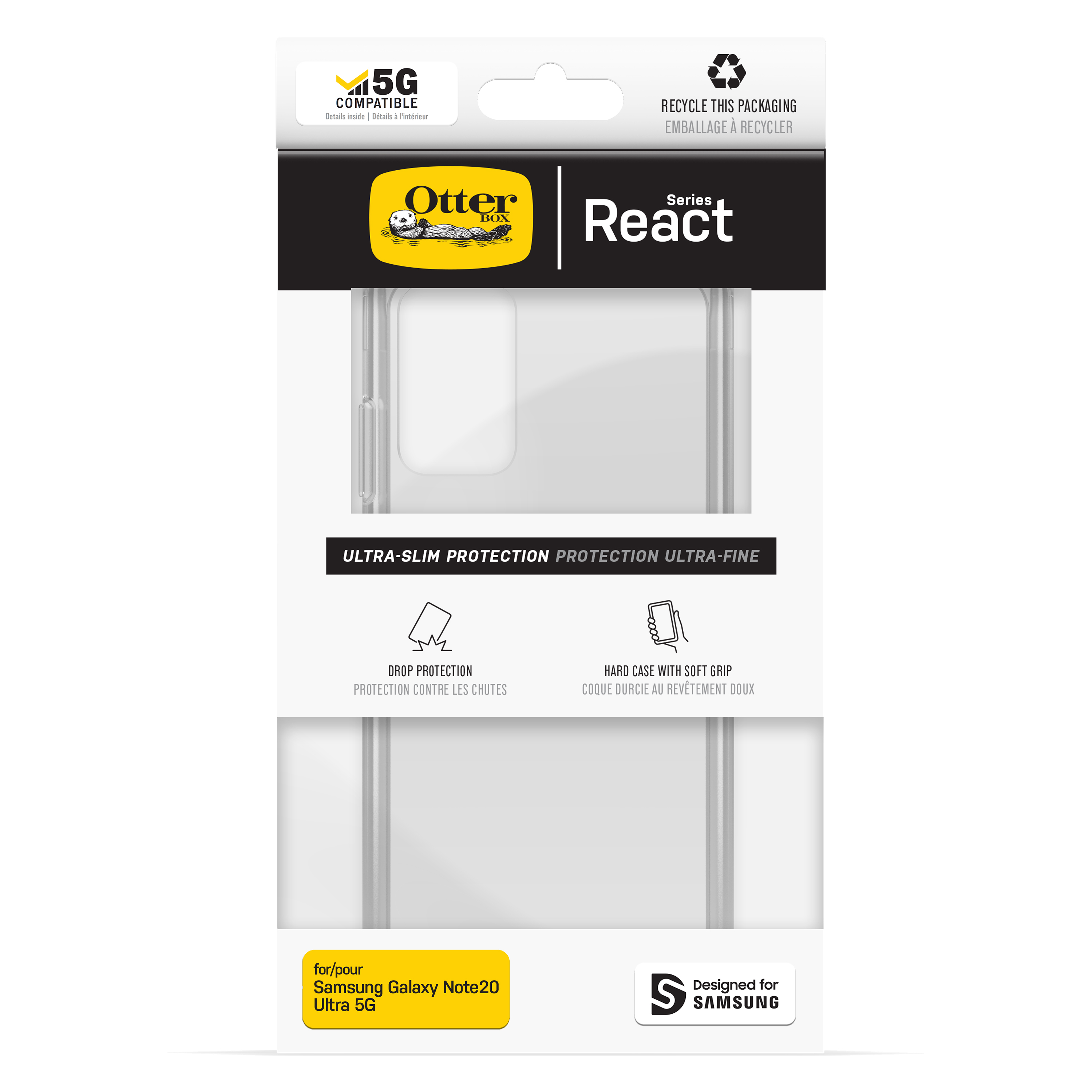 OtterBox Galaxy Note 20 React Case - Clear