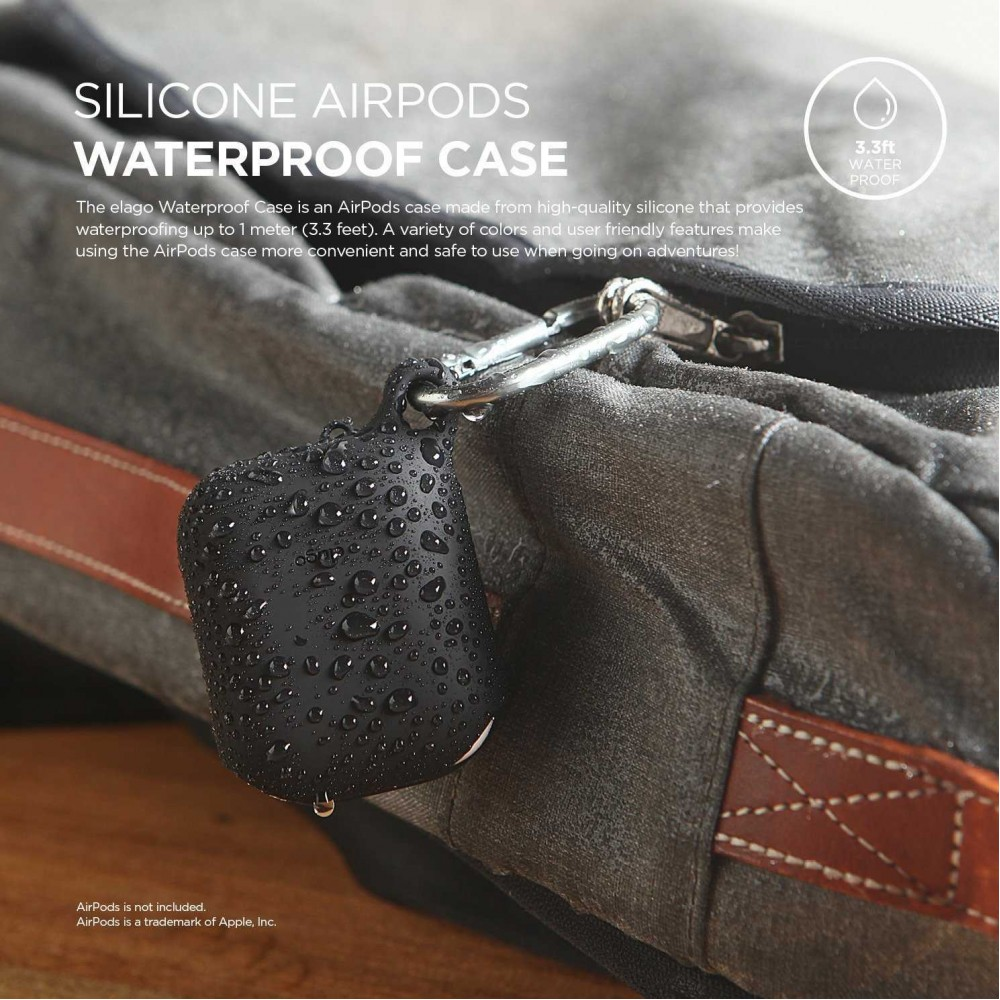 Elago AirPods waterproof hang case  Black