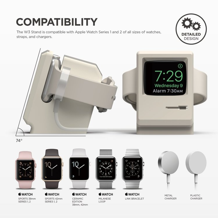W3 Stand for Apple watch - White