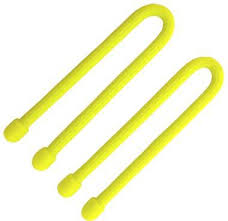 Gear Tie® Reusable Rubber Twist Tie™ 6 in. - 2 Pack - Neon Yellow