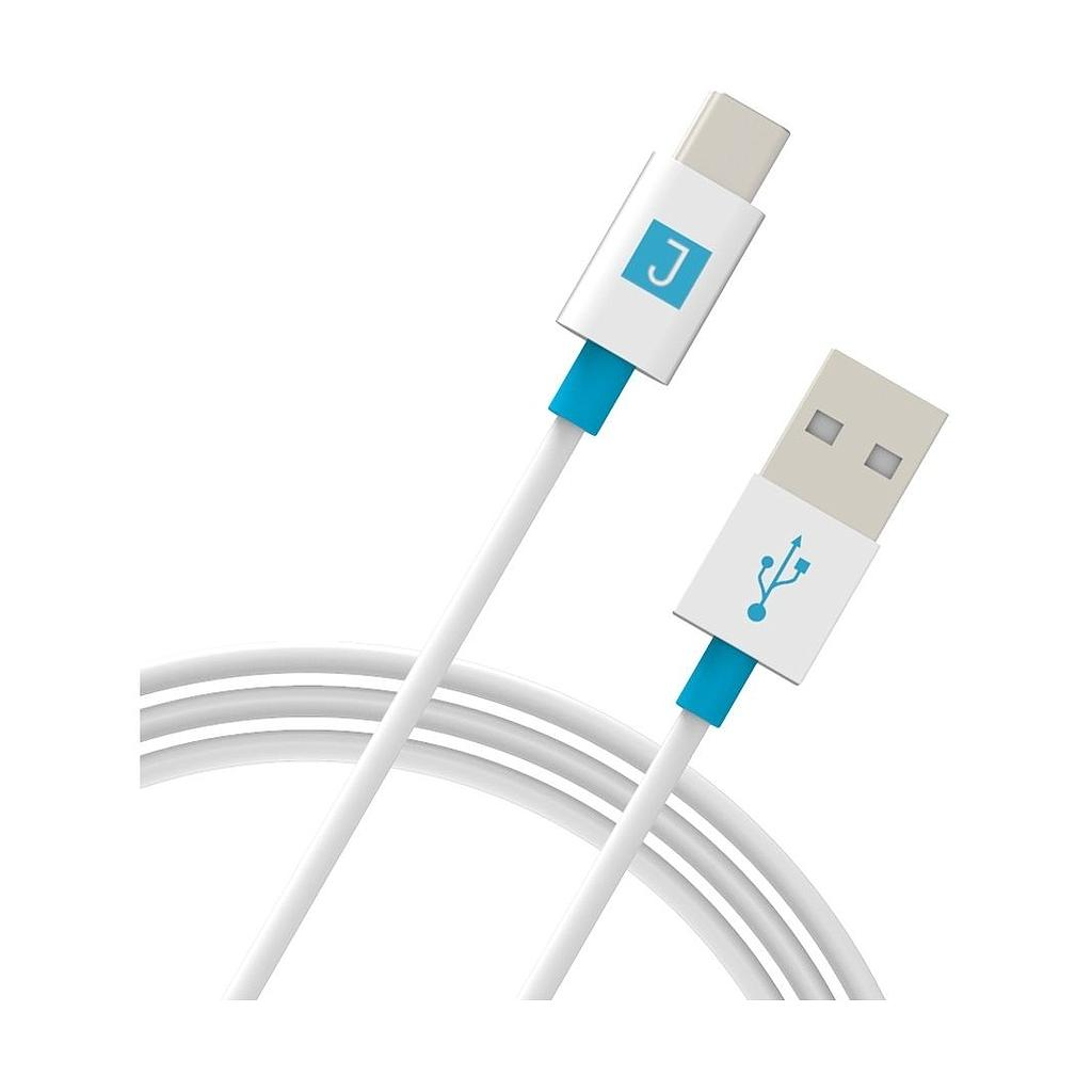Juku USB-A to USB-C Charge and Sync Cable  - 1.2M, 3A, USB 2.0 - White